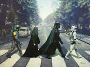 Abbey Rogue The Beatles And Star Wars Abbey Road Album Art Print