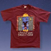 Rare Disney Vintage Mickey Mouse Twilight Zone Tower Of Terror Ride T-shirt