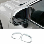 Fit For Volvo Xc60 18-2021 Bright Chrome Rear View Side Door Mirror Frame Cover