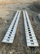 Hd Ramps 14and039 L X 16 W X 6-1/4 H Aluminum Ramps With Pin-on Ends -12000 Lb.axl
