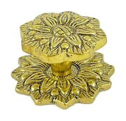 Antique Solid Brass Knob / Backplate For Cabinets / Drawer Item 0092/3