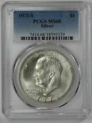 1973 S Eisenhower Ike Dollar 1 Pcgs Certified Ms 68 Mint State Silver 329