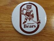 Vintage 70s Hershey Bears Hockey 4 Button / Pin Jacques Richard Colin Campbell