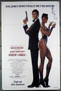 View To A Kill, A 1985 1601  Roger Moore  Grace Jones Movie Poster