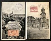 New Foundland 1936/37 2 X Ppc -stamp Front - To Belgium -- Vf -