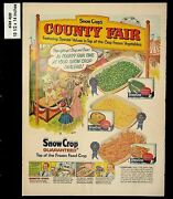 1957 County Fair Snow Cropand039s Frozen Food Vintage Print Ad 13554