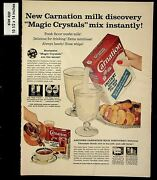 1957 Magic Crystals Mix Instantly Carnation Dairy Vintage Print Ad 13551