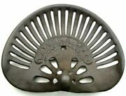Walter A. Wood Tractor Seat 16.5 Vintage Replica Cast Iron Country Decor Stool