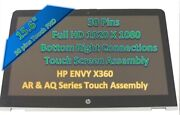 Silver Hp Envy M6-aq103dx 15.6 Led Lcd Touch Screen Bezel Pcb Controller Board