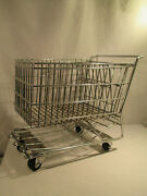 Solid Older Miniature Metal Toy Shopping Cart Puppendekoration