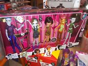 We Are Monster High Student Disembody Council 5 Doll Set Slo Mo Lagoona Cleo Gil