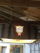 Vintage Old Style Beer 🍺 Barrel Poker/pool Table Light 🎱🎱 Local Pickup Only
