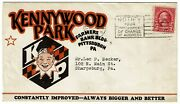 1934 Pittsburgh Pa Cancel On Kennywood Amusement Park Ad Cover