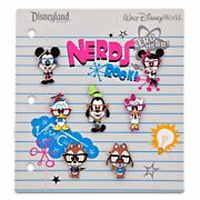 Disney Collectible Pin Booster Pack Nerds Rock Full Body 7 Pins Sealed New