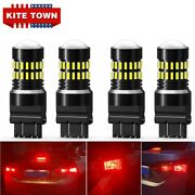 4x 3157 100w Led Backup Reverse Lights Red For Chevy Silverado 1500 2012 2013