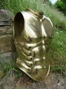 Royal Medieval Roman Armor Cuirass Front And Back Full Brass Roman Muscle Armor