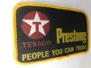 Texaco Prestone People You Can Trust Vintage Hat Patch Oil Gas Service Station
