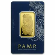 1 Ounce Gold Bar Pamp Suisse Lady Fortuna Veriscan .999 Fine Gold
