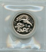 China 1990 Silver Dragon And Phoenix 5 Jiao Sealed In Original Plastic