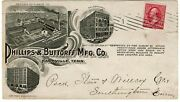 1899 Nashville, Tn Machine Cancel On Ad Cover For Phillips And Buttorff Mfg. Co.