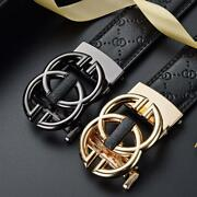 New Fashion Buckle Menand039s Leather Classic Vintage Multicolor Luxury Men Belt