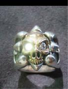 Bwl Bill Wall Leather Skull Ring With Diamond No. 18