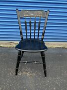 Ethan Allen Hitchcock Black Decorated Side Chair