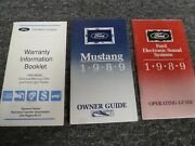 1989 Ford Mustang Coupe Convertible Owner Manual User Guide Set Lx Gt Sport
