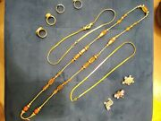 Mixed Costume Jewellery Bundle Job Lot Vintage And Modern Necklaces Rings Etc