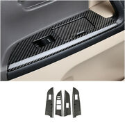 For 08-2021 Toyota Land Cruiser Real Carbon Fiber Window Lift Panel Switch Trim