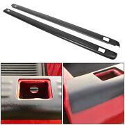 Black Bed Rail Caps For 1999-2006 Chevy Silverado / Gmc Sierra 6and0396 Bed 7201151