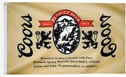 Coors The Banquet Large 3x5 Feet Classic Man Cave Decoration Indoor And Outdoor