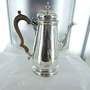 A Good Antique Sterling Silver Coffee Pot. London 1762.