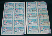 Opc 1937 Mexico Lottery National Tickets In 2 Seperate Sheets Of 10