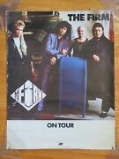 1986 The Firm On Tour Poster Paul Rodgers Jimmy Page Chris Slade Tony Franklin
