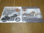 Lot Of 2 New Sealed Harley Davidson Motorcycle Bike Calendars 2003 And 2008