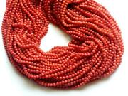Natural Italian Coral Beads, Original Coral Plain Round Balls For Jewelry, 4mm