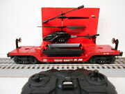 Lionel 84490 Norfolk Southern First Responders Flatcar Helicopter O Gauge Train