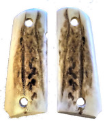 1911 Grips Fits Colt Springfield Rock Island Clones Compact Officer Elk Stag Uv