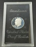 1971 S 1 Eisenhower Brown Ike 40 Proof Silver Dollar Dcam Nice Coin Nice Case
