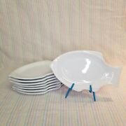 Williams-sonoma 8pc Porcelain Fish Shaped Small Plates Bread Butter Snack Set
