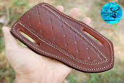 7.5 Hand Made Pure Cow Leather Sheath For Knives And Other Tools - Aj 911