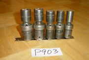 Snap-on Tools 5 Piece 1/2 Drive Sae. Swivel Impact Sockets 6 Point