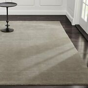 Area Rug 9and039 X 12and039 Baxter Putty Hand Tufted Crate And Barrel Woolen Carpet