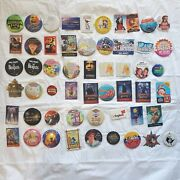 Large Lot Of Late 90s Early 2000s Promo Pins Disney Beatles Star Wars Barbie Ge