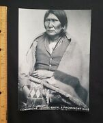 Comanche, Horse-back, Indian Chief By Will Soule, 5x7 Photograph, Reprint