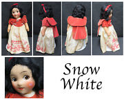Vtg 1930and039s Snow White And Whistling Seven Dwarfs Ideal Novelty And Toy Co