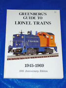 Greenberg's Guide Lionel Trains 1945-69 Much Info Engines Cars Accessories Book