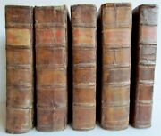 1714 5 Volumes C. Lapide Old Testament Bible Commentary Antique Folios In Latin