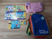My First Leap Pad School Bus Learning System With 5 Books And 4 Cartridges Works